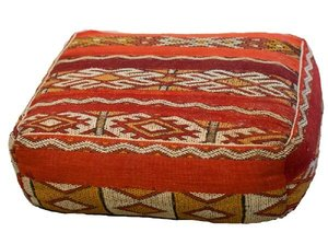 Red Patterned Floor Cushion rental Austin, TX