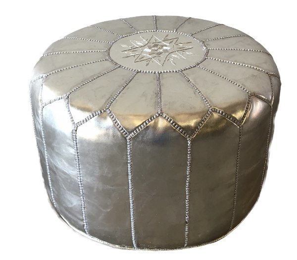 Excellent Silver Pouf Interior Design Ideas Lukepblogthenellocom