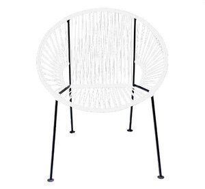 White PVC Cord Chair rental Austin, TX
