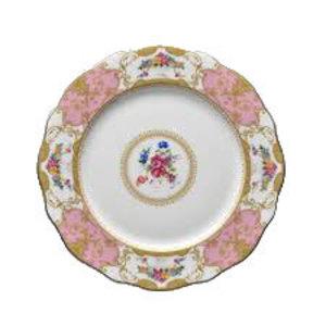 Floral Vintage Pink Dinner Plate rental Austin, TX