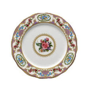 Floral Vintage Purple Dinner Plate rental Austin, TX