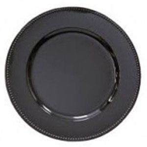 "Black Acrylic Charger Plate 13"" rental Austin, TX"