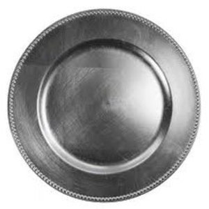 """Silver Acrylic Charger Plate 13"""" rental Austin, TX"""