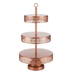 Copper 3 Tier Dessert Tray rental Austin, TX