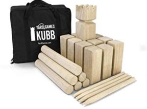 Kubb Game rental Austin, TX