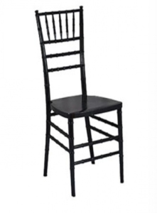Black Chiavari Chair with Pad rental Austin, TX