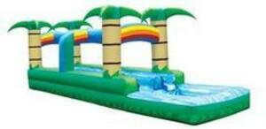 Double Lane Tropical Slip 'n' Slide with Rainbows rental San Antonio, TX