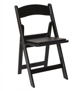 Black Padded Folding Chair rental San Antonio, TX