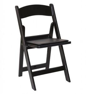 Black Padded Folding Chair rental San Antonio, TX