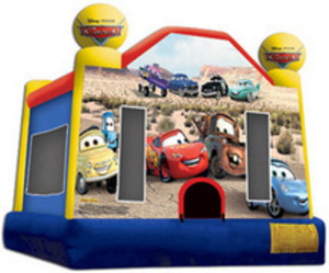 Bounce House with Cars Panel  rental San Antonio, TX