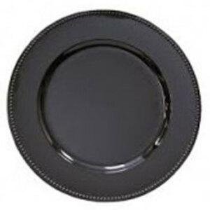 "Black Acrylic Charger Plate 13"" rental San Antonio, TX"