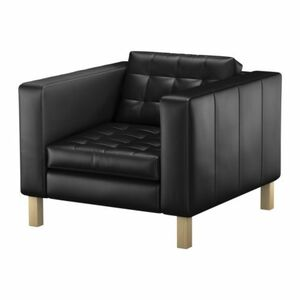 Black Tufted Leather Chair rental San Antonio, TX