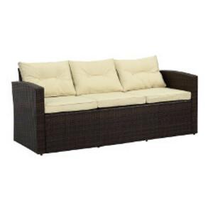 Brown Wicker Sofa rental San Antonio, TX