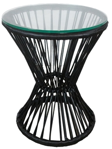 Black PVC Cord Side Table rental San Antonio, TX