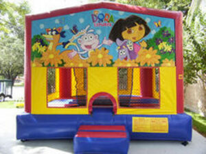 15x15 Bounce House with Dora Panel rental San Antonio, TX