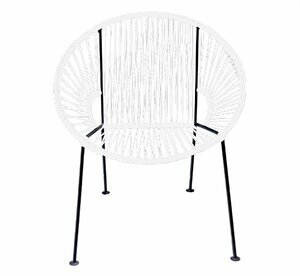 White PVC Cord Chair rental San Antonio, TX