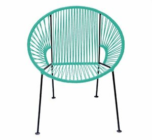 Teal PVC Cord Chair rental San Antonio, TX