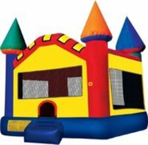 15x15 Multicolor Bounce House Castle rental San Antonio, TX
