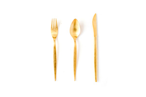 Gold Flatware rental San Antonio, TX