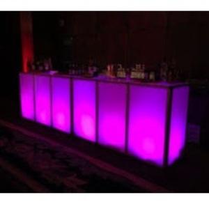 LED Lighted Acrylic Bar rental San Antonio, TX