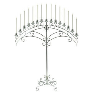 Silver Fan 15 Light Candelabra rental San Antonio, TX