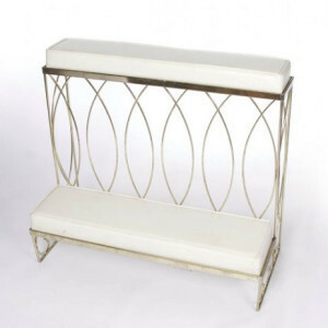 Wide Silver Kneeling Bench rental San Antonio, TX