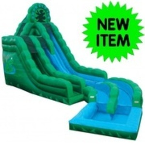 20' Emerald Ice Water Slide with Pool  rental San Antonio, TX