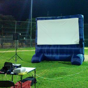 Giant Inflatable Movie Screen rental San Antonio, TX