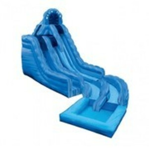 Blue Ice Waterslide with Pool rental San Antonio, TX
