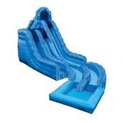 Blue Ice Waterslide with Pool rental San Antonio, TX