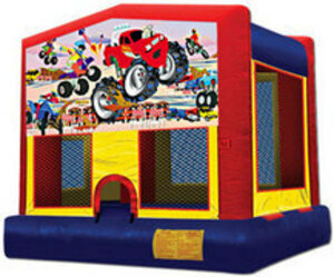 13x13 Bounce House with Monster Truck Panel rental San Antonio, TX