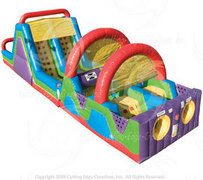 60' Bounce House Obstacle Course  rental San Antonio, TX