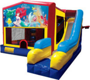 Bounce House Combo with Little Mermaid Panel rental San Antonio, TX