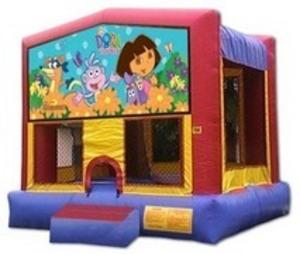 13x13 Bounce House with Dora Panel rental San Antonio, TX