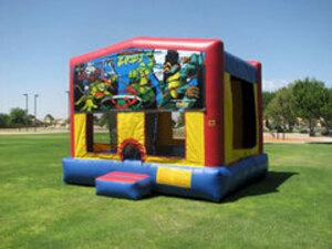 13x13 Bounce House with Ninja Turtle Panel rental San Antonio, TX