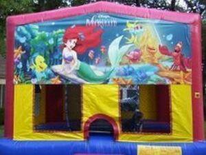 15x15 Little Mermaid Bounce House  rental San Antonio, TX