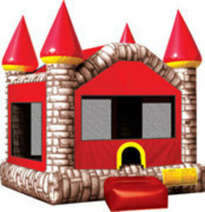 15x15 Brick Castle Bounce House rental San Antonio, TX