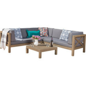 Outdoor Sectional Sofa & Coffee Table