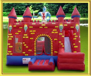 Red Medieval Bouncy Castle rental San Antonio, TX