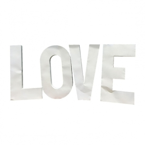 White Metal LOVE Letters rental San Antonio, TX