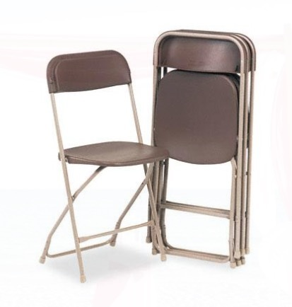 Brown Folding Chair rental San Antonio, TX