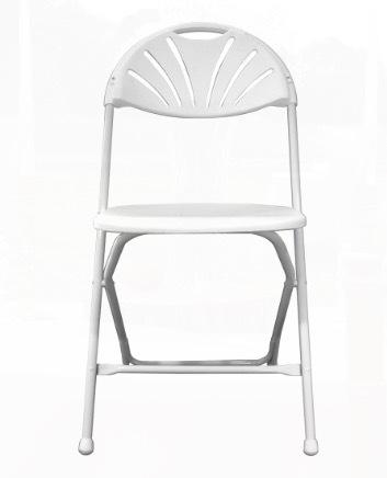 White Plastic Folding Chair rental San Antonio, TX
