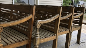Wooden Benches rental San Antonio, TX