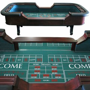 8ft Casino Craps Dice Table rental San Antonio, TX