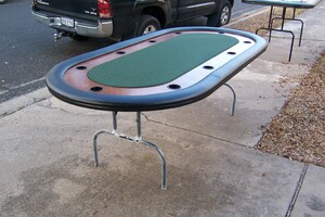 8 Foot Poker Texas hold'em table rental San Antonio, TX