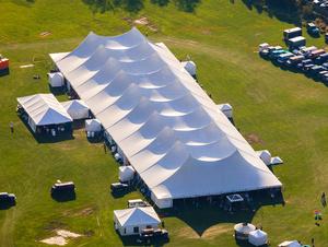 40 x 100 White Frame Tent rental San Antonio, TX