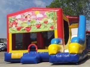Bounce House Combo with Strawberry Shortcake Panel rental San Antonio, TX
