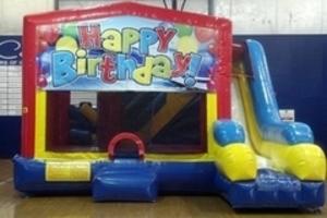 Bounce House Combo with Happy Birthday Panel rental San Antonio, TX