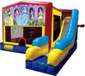 Bounce House Combo with Disney Princess Panel rental San Antonio, TX