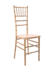 Natural Chiavari Chair with Pad rental San Antonio, TX